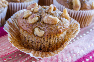 Cupcake with chia seeds