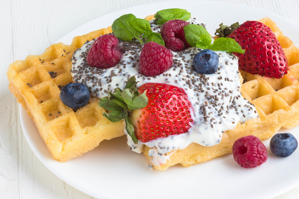 Waffles with chia seeds