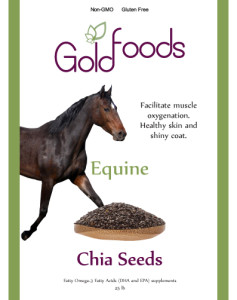 Gold Foods horse chia seeds.